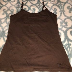 Justice Brown cami with built in liner